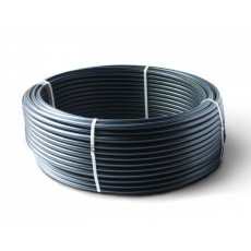 Труба ПНД 100 SDR17 32х2,0 PN 10 черная с синей полосой (питьевая)