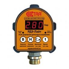 Реле давления с защитой от сухого хода электронное РДЭ-Лайт Акваконтроль(1.5 кВт, G 1/2)