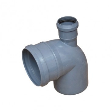 Отвод ПВХ 110*90° с доп. подкл. на 50 сверху