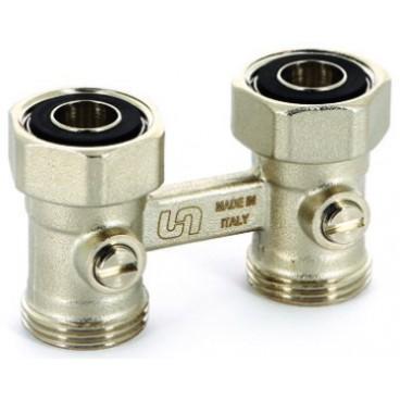 Блок подключения Uni-fitt прямой для стальных панельных радиаторов