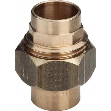 (94330) 15 мм Американка с плоским уплотнением бронза пайка Viega, Германия