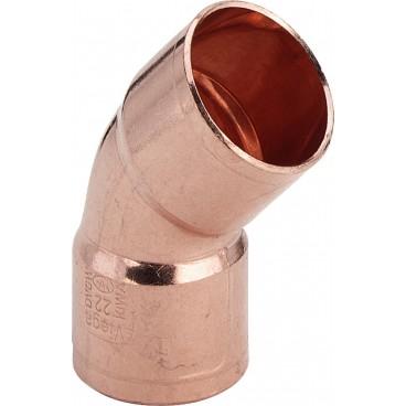 (95041) 42 мм Полуотвод 2-раструбный 45* медь пайка Viega, Германия