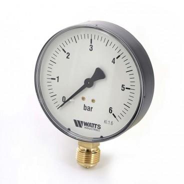 """Манометр Watts радиальный F+R200, 80 мм, 0-16 бар, 1/2"""""""