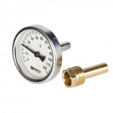 Термометр биметаллический погружной Dn 100 гильза 50мм Watts