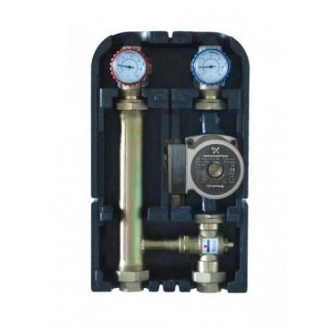 Группа быстрого монтажа Wester с термостатическим клапаном и насосом  Grundfos UPSO 25-65