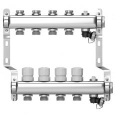 Коллектор Wester на 10 выходов из нержавеющей стали с регулирующими клапанами